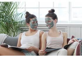 面膜美容护肤理念的女性_7758843