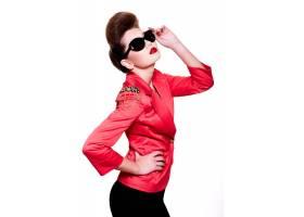 高级时尚造型性感黑发高加索年轻女子魅力_7249246