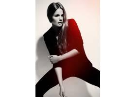 高级时尚造型穿着黑布的漂亮性感时髦的高_7251366