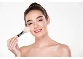 笑容可掬的半裸女子美人写真皮肤清新软_6514103