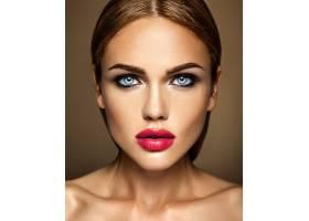 红唇清新日妆美女模特美女性感魅力写真脸_6882622
