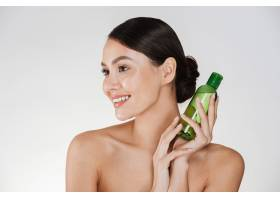 微笑的黑发女子美容写真皮肤柔软健康卸_6514658