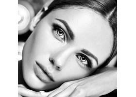 性感迷人的美女模特每天化妆清新嘴唇裸_7251692