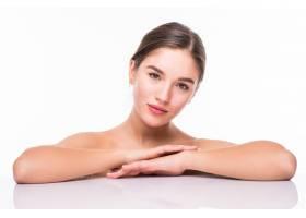 一位年轻迷人的半裸女子的美人肖像皮肤完_8472851