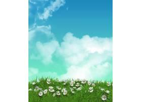 草地上的花朵_87973101