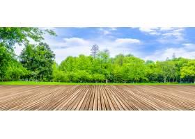 装饰蓝天白云公园空间景观群山_124416601