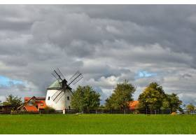 旧风车捷克欧洲带花园的漂亮的老传统磨_292518301