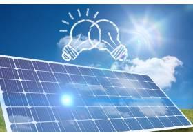 画出的气泡和太阳能电池板_92653901