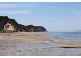 白天在lnstrup海滩看到北海海岸的美景_1306170701