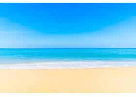 白色自然海滩热带景观_109111201