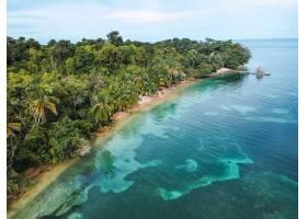 有丛林的小岛的美丽景色_1300576501