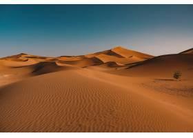 在摩洛哥拍摄的晴空下宁静的沙漠美景_928321901