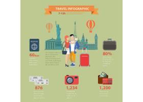 旅游度假观光平面式主题信息图概念_11552640