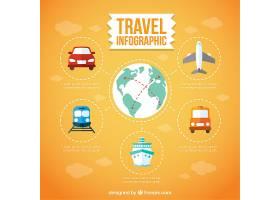 旅行信息图与交通工具_843834