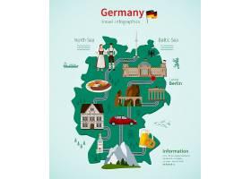 德国旅游平面图信息图概念_4015442