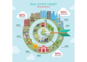 房地产目标扁平化主题信息图概念_11552637