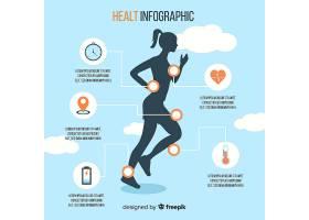 带有女性轮廓的健康信息图模板_4958328
