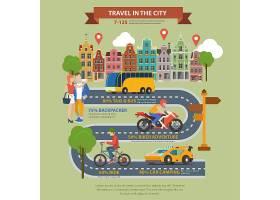 城市平面式旅游主题信息图概念_11552642