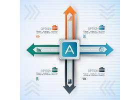 商业信息图表带有不同方向的方形和箭头_10110596