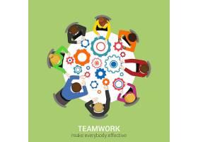 办公桌面俯视商务平面网信息图概念工作人_11467600