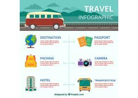包含大篷车和其他元素的旅行信息图_1213898
