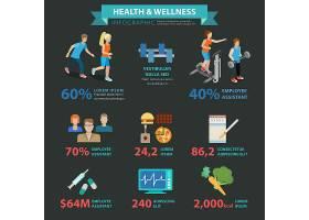 健康养生扁平式主题体育信息图概念_11552671