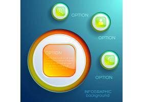 五颜六色的光泽网页元素和图标隔离的商业信_10758952