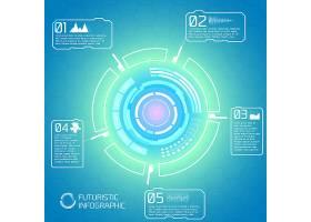 以未来主义信息图形元素为背景的现代交互技_10464335