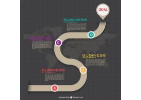 优雅的商业信息图表_715563