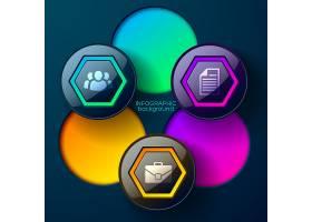 Web抽象信息图概念彩色光滑的六边形圆_10759485
