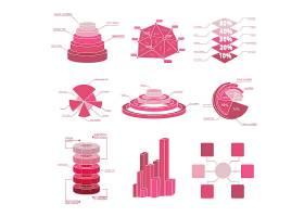 一大组图表元素带有多个独立的红色色调和_11408206