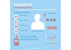 一种平面设计的糖尿病信息图模板_2711716