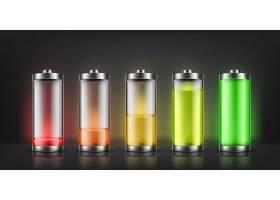一组电池电量指示器具有背景隔离的低电平_3586285