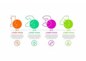 不同时间段的时间线信息图表_7140988