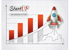 用火箭开创新的商业项目信息图成就和开始_10602884
