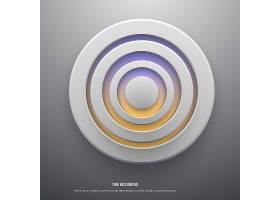 白纸圆形纸币的矢量插图_1306590