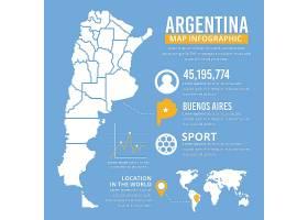 阿根廷平面地图信息图模板_10463627