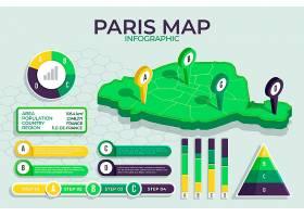 等距巴黎地图信息图_11852611
