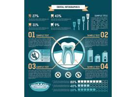 牙齿信息图治疗预防和修复矢量插图_10603388