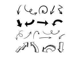 手绘极简主义箭头收藏集_12781373