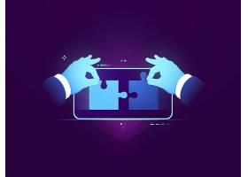 手机应用测试连接两块拼图UX UI设计开_4102883