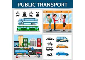 平板式公共交通广场概念车自行车公交车_12937667