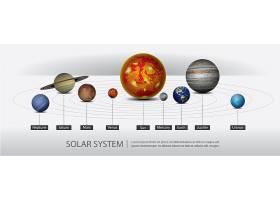 太阳系中的行星矢量插图_8277130