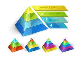 具有信息图表和演示选项的矢量金字塔图等轴_11059422