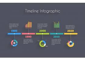 具有图表和文本的矢量时间线信息图模板_10608616