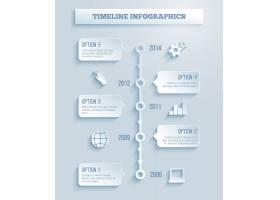 具有纸张效果的时间线信息图表矢量模板在_10608262