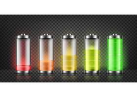 一组电池电量指示器具有背景隔离的低电平_3586300