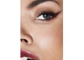 化妆优雅的极致特写模特_5930472