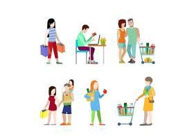 都市青年购物车杂货店夫妇家庭网站信息图概_12691959