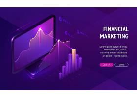 金融营销等距登录页面横幅_9292924